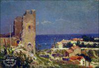 Картина Южный пейзаж Старая крепость Феодосия