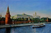 Речная прогулка. Вид на Кремль с Москва-реки