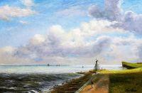 Вольная копия картины Джона Констебла Harwich Lighthouse