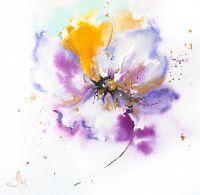 Танцующие цветы триптих