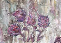 Картина - Волшебные цветы.