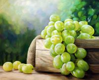 "Картина маслом ""Натюрморт с виноградом"""