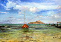 """Морской пейзаж с лодкой """"На райских островах»"""