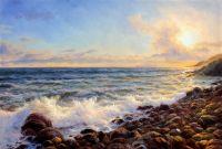 Морской пейзаж «Прибрежные волны. Закат»
