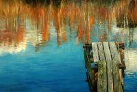 Пейзаж «Мостки в осень»