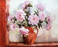 """Натюрморт маслом """"Розовые розы"""""""