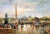 "Пейзаж Парижа Антуана Бланшара ""Place de la Concorde (копия Кристины Виверс)"""