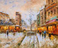"""Пейзаж Антуана Бланшара """"A view of the Porte de Saint Denis"""" (Вид на Ворота Сен-Дени, копия Кристины Виверс) N3"""