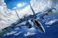 """Картина маслом """"Самолет Су-35. Уходя в зенит"""""""