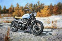 """Картина маслом """"Мой Triumph (серия Мотоциклы)"""""""
