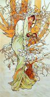 Копия картины Альфонса Мухи