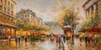 "Пейзаж Парижа Антуана Бланшара ""Boulevard des Capucines et Madeleine"" (копия Кристины Виверс)"