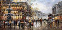 "Пейзаж Парижа Антуана Бланшара ""Place du Palais Royale et Comedie Francaise"" (копия Кристины Виверс)"
