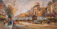 """Пейзаж Парижа Антуана Бланшара """"A view of the Porte de Saint Denis (Вид на Ворота Сен-Дени, копия Кристины Виверс)"""
