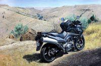 """Картина маслом """"Мотобайк в горах (серия Мотоциклы)"""""""