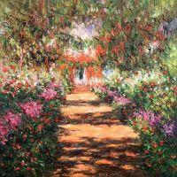 Тропинка в саду Моне. Живерни, 1900г, копия С.Камского картины Клода Моне
