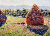 Стога сена в солнечном свете. Полдень.1891г, копия С.Камского картины Клода Моне