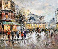 Пейзаж Парижа Антуана Бланшара Le Gare de l'Est Boulevard
