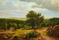 Копия картины Ивана Шишкина Вид в окрестностях Дюссельдорфа