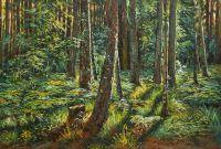 Копия картины Ивана Шишкина Папоротники в лесу