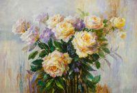 Картина маслом Нежность розы Версия SK