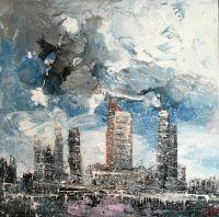 небо и город