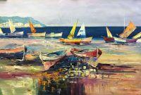 Разноцветные лодки на пляже N1