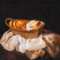Копия картины Сальвадора Дали Корзина с хлебом