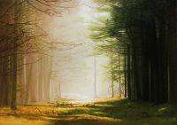 Пейзаж маслом Из тени в свет...