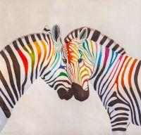 Зебры, разноцветные как радуга