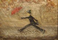 Бегущий под дождем