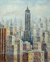 "Картина маслом ""Нью-Йорк, Эмпайр-стейт-билдинг"""