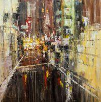 """Картина маслом """"Огни ночного города N2"""""""