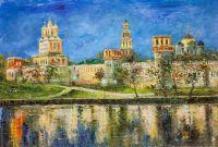 Вид на Новодевичий монастырь. Версия AV