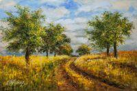Дорога среди полей
