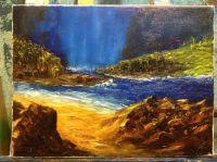 Залив с водопадом