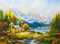 Копия картины Томаса Кинкейда Начало прекрасного дня (Beginning of a perfect day)