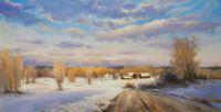 Пейзаж Зимним днем