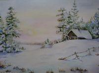 Избушка в зимнем лесу