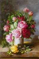 """Картина маслом """"Букет роз в вазе"""""""