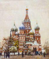 Зимний вид на Собор Василия Блаженного