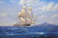 Вольная копия картины Дерека Гарднера (Derek Gardner) «Sailing ship the Captain Horatio Nelson»