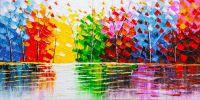Деревья у воды. Разноцветное
