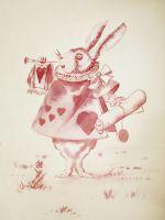 Рисунок вином Кролик
