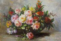 Букет роз с веткой айвы N2