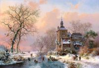 Зимний пейзаж с замком