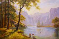 """Вольная копия картины Альберта Бирштадта """"Долина реки Керн, Калифорния"""
