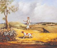 "Копия картины Генри Томас Олкена ""Охота на куропатку"