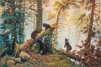 """Копия картины Ивана Шишкина """"Утро в сосновом лесу, 1889"""" (худ. Савелия Камского)"""