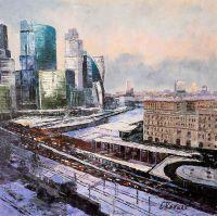 Вид на Москва-Сити от Кутузовского проспекта